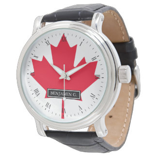 Maple Leaf Flag of Canada Wrist Watches