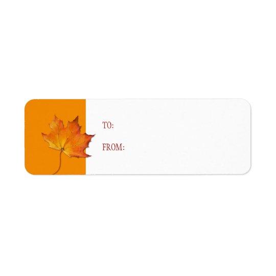 Maple Leaf Gift Tag Label