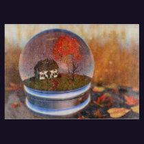 Maple Leaf Globe Cutting Board