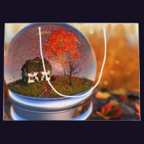 Maple Leaf Globe Gift Bag