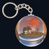 Maple Leaf Globe Keychain