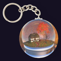 Maple Leaf Globe Keychain