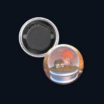 Maple Leaf Globe Magnet