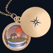 Maple Leaf Globe Necklace