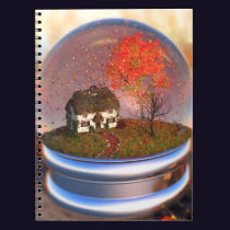 Maple Leaf Globe Notebook