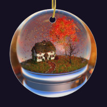 Maple Leaf Globe Ornament
