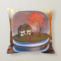 Maple Leaf Globe Pillow