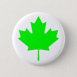 Maple Leaf Green LtTransp The MUSEUM Zazzle Gifts Pinback Button