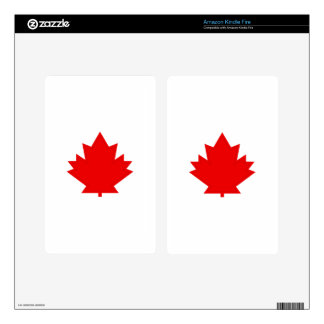 Maple Leaf Kindle Fire Decals