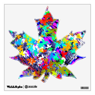 MAPLE Leaf : Lots of Maple Leaves Wall Decals