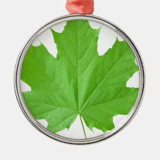 Maple Leaf Metal Ornament