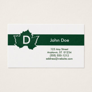 Maple Leaf Monogram Business Card