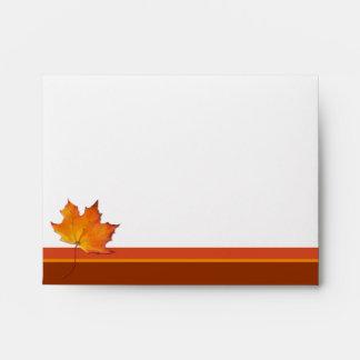 Maple Leaf Note Card Envelope