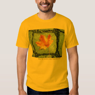 Maple Leaf on Pavement T-Shirt