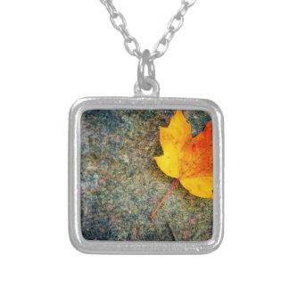 Maple Leaf on Rock Pendant