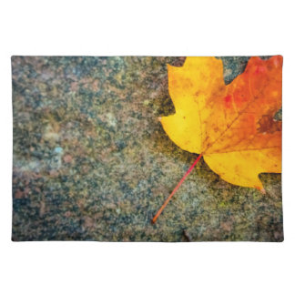 Maple Leaf on Rock Place Mats