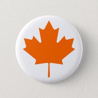 Maple Leaf OrangeBrTransp The MUSEUM Zazzle Gifts Button