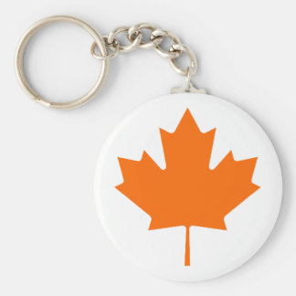 Maple Leaf OrangeBrTransp The MUSEUM Zazzle Gifts Keychain
