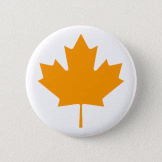 Maple Leaf OrangeTransp The MUSEUM Zazzle Gifts Button