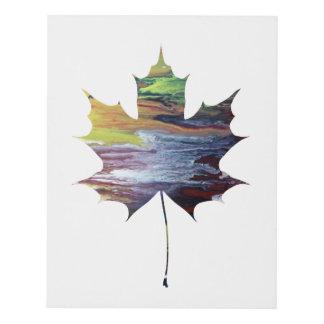 Maple leaf panel wall art