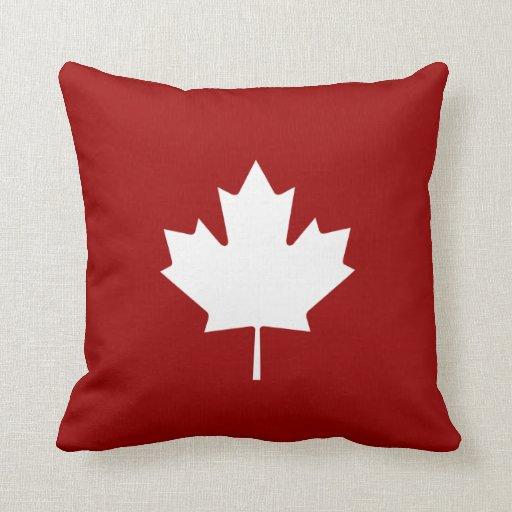 Maple Leaf Pictogram Throw Pillow