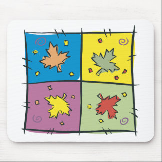 Maple Leaf Pop Art Mouse Pad