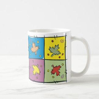 Maple Leaf Pop Art Classic White Coffee Mug