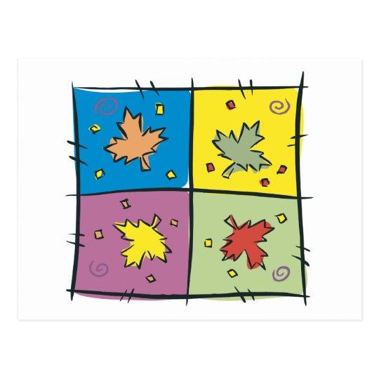 Maple Leaf Pop Art Postcard