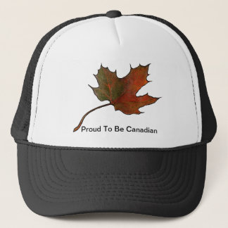 Maple Leaf: Proud To Be Canadian: Artwork Trucker Hat