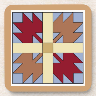 Maple Leaf Quilt Pattern Set of Coasters