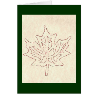 MAPLE LEAF / RED AND WHITE GREETING CARD