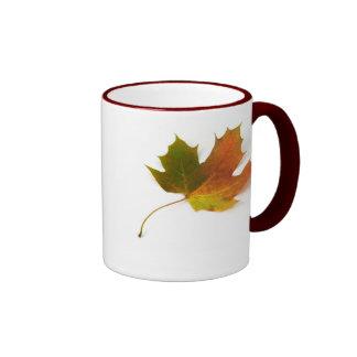 Maple Leaf ringer ceramic mug  by Petr Kratochvil