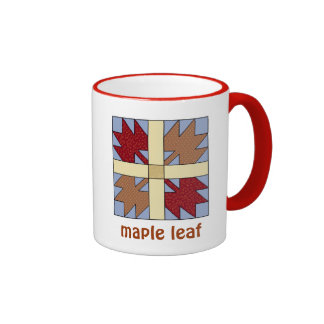 Maple Leaf Ringer Mug