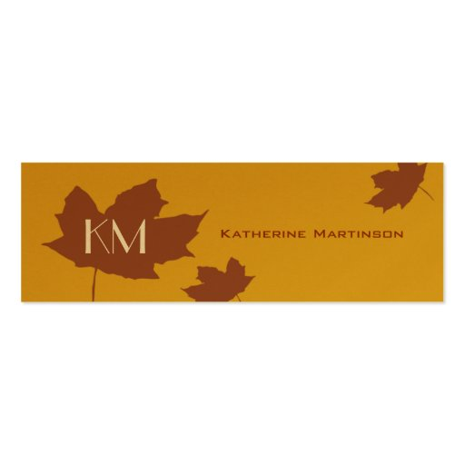 Maple leaf skinny card double sided mini business cards for Leaf business cards