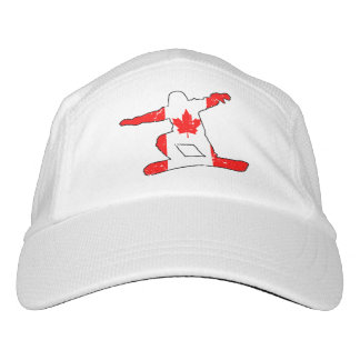 Maple Leaf SNOWBOARDER (blk) Headsweats Hat