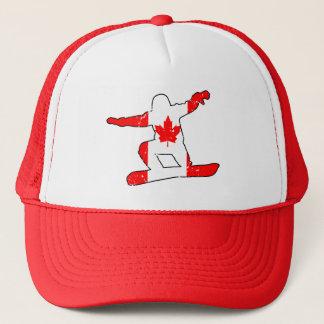 Maple Leaf SNOWBOARDER (blk) Trucker Hat