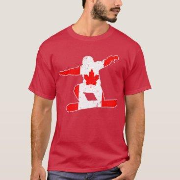 McTiffany Tiffany Aqua Maple Leaf SNOWBOARDER (wht) T-Shirt