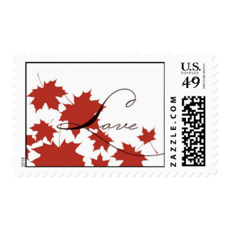 Maple Leaf Stamp LOVE