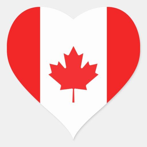 Maple Leaf Symbol Heart Sticker