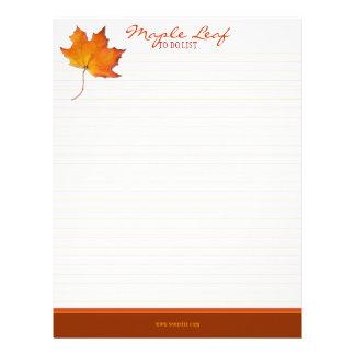 Maple Leaf To-Do List Letterhead