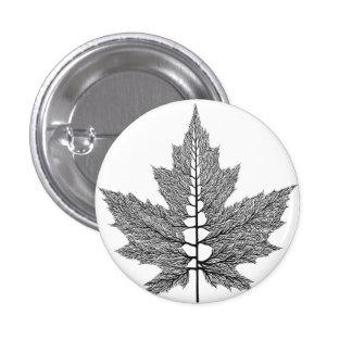 Maple Leaf Veins Button
