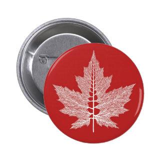 Maple Leaf Veins Button (Red)