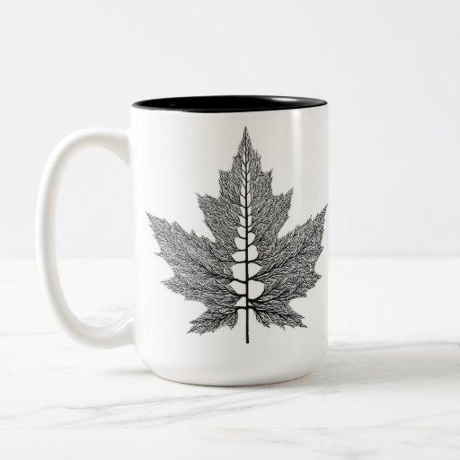 Maple Leaf Veins Mug