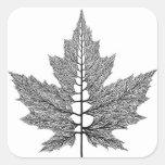 Maple Leaf Veins Sticker