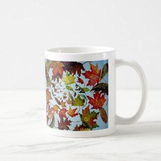 Maple Leaf Vortex painting Coffee Mug