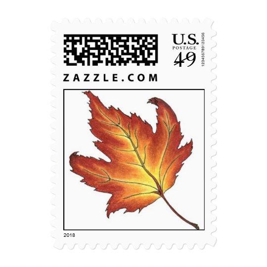 Maple-Leaf wedding stamp a