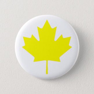 Maple Leaf YellowTransp The MUSEUM Zazzle Gifts Pinback Button