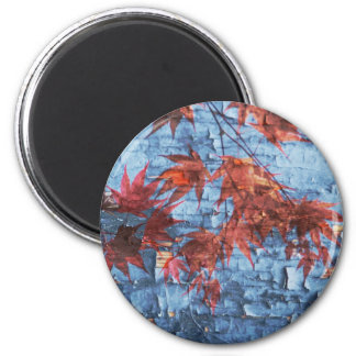 Maple Leaves 2 Inch Round Magnet