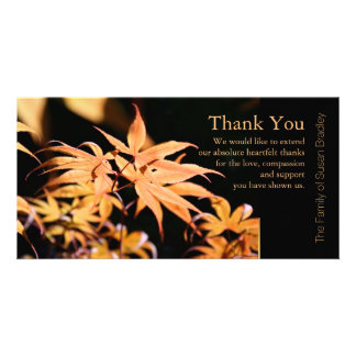 Maple Leaves 3 Sympathy Thank You Note Card