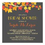 Maple Leaves Autumn Bridal Shower Invitation